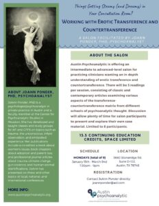 Working With Erotic Transference - Austin Psychoanalytic