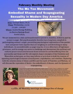 Embodied Shame and Scapegoating - Austin Psychoanalytic