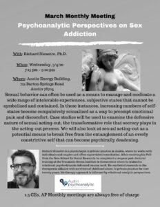 Psychoanalytic Perspective on Sex Addiction - Austin Psychoanalytic